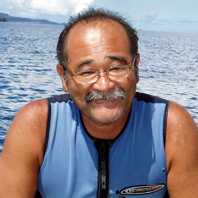 こちらがオーナーのポールさん、海を知り尽くしたプロ中のプロです
