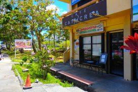 猫好きのオーナーがもてなす人気のカフェ。ウェスティンの隣で、プレジャーアイランドからも徒歩圏内。評判のオムレツやハンバーグと美味しいコーヒーでくつろげます。